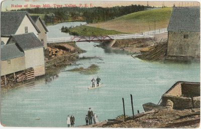 , Ruins of Steam Mill, Tyne Valley, P.E.I. (2727), PEI Postcards