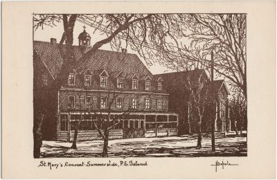 , St. Mary's Convent. Summerside, P.E. Island. (2734), PEI Postcards