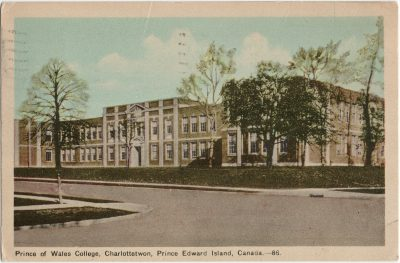 , Prince of Wales College, Charlottetwon {sp}, Prince Edward Island, Canada. (2718), PEI Postcards
