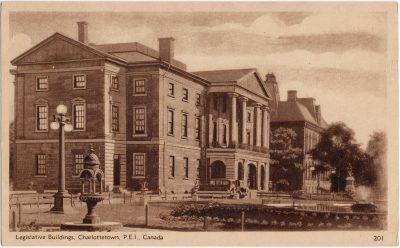 , Legislative Buildings, Charlottetown, P.E.I. Canada (2736), PEI Postcards