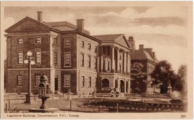 , Legislative Buildings, Charlottetown, P.E.I., Canada. (2742), PEI Postcards