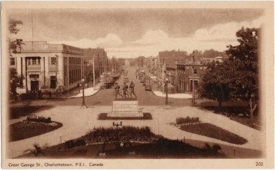 , Great George St., Charlottetown, P.E.I., Canada. (2743), PEI Postcards