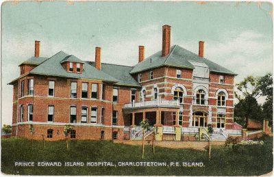 , Prince Edward Island Hospital, Charlottetown, P.E. Island. (2747), PEI Postcards