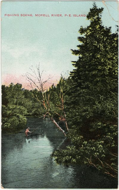 , Fishing Scene, Morell River, P.E. Island. (2745), PEI Postcards