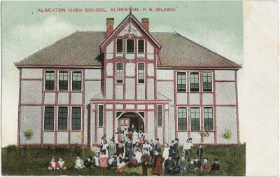 , Alberton High School, Alberton, P.E. Island. (2744), PEI Postcards