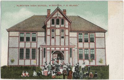 , Alberton High School, Alberton, P.E. Island. (2746), PEI Postcards