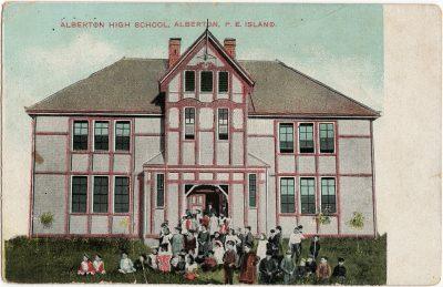, Alberton High School, Alberton, P.E. Island. (2750), PEI Postcards