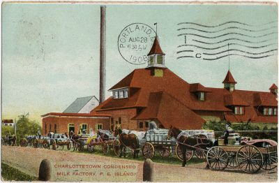 , Charlottetown Condensed Milk Factory, P.E. Island. (2749), PEI Postcards