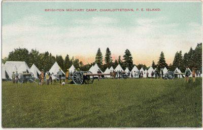 , Brighton Military Camp, Charlottetown, P.E. Island (2748), PEI Postcards