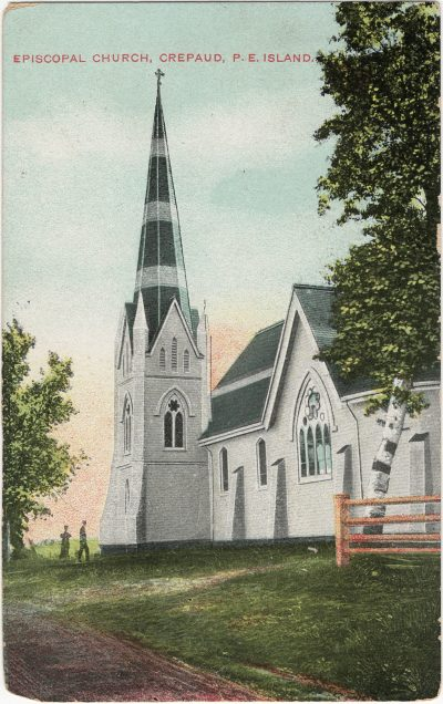 , Episcopal Church, Crepaud {sp}, P.E. Island. (2715), PEI Postcards