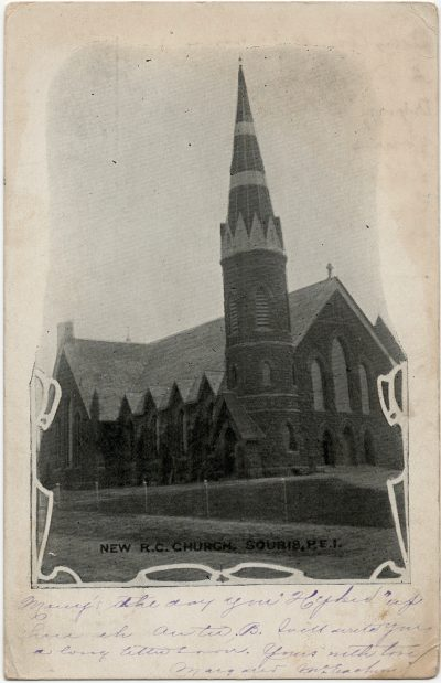, New R.C. Church, Souris, P.E.I. (2776), PEI Postcards