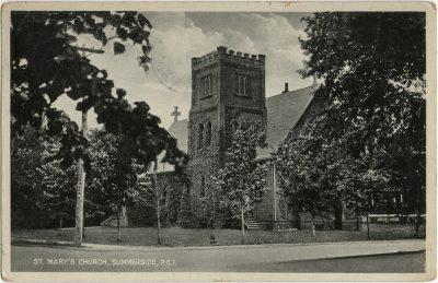 , St Mary's Church, Summerside, P.E.I. (2773), PEI Postcards