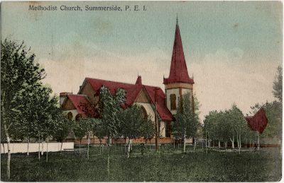 , Methodist Church, Summerside, P.E.I. (2757), PEI Postcards