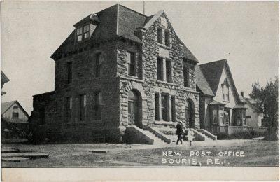 , New Post Office, Souris, P.E.I. (2778), PEI Postcards