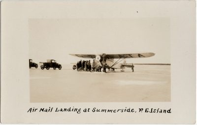 , Air Mail Landing at Summerside, P.E. Island (2782), PEI Postcards