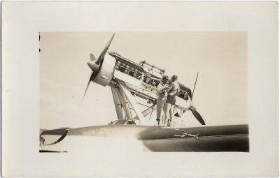 , Balbo flight – repairs in Victoria (2767), PEI Postcards