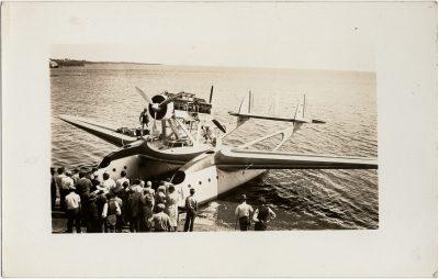 , Balbo flight – repairs in Victoria (2770), PEI Postcards
