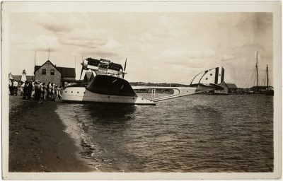 , Balbo flight – repairs in Victoria (2765), PEI Postcards