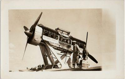 , Balbo flight – repairs in Victoria (2766), PEI Postcards