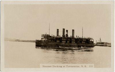 , Steamer Docking at Tormentine, N.B. (2836), PEI Postcards