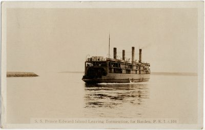 , S. S. Prince Edward Island Leaving Tormentine for Borden, P.E.I. (2833), PEI Postcards