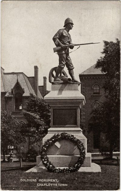, Soldiers' Monument, Charlottetown (2832), PEI Postcards