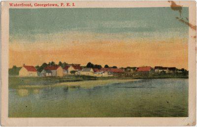 , Waterfront, Georgetown, P.E.I. (2827), PEI Postcards