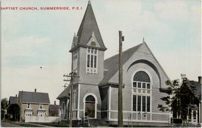 , Baptist Church, Summerside, P.E.I. (2810), PEI Postcards