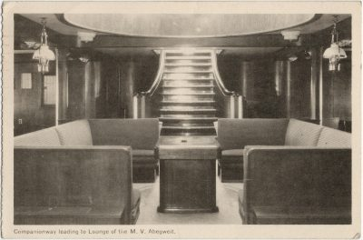 , Companionway leading to Lounge of the M.V. Abegweit. (2812), PEI Postcards
