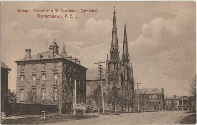 , Bishop's Palace and St. Dunstan's Cathedral, Charlottetown, P.E.I. (2807), PEI Postcards