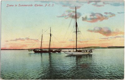 , Scene in Summerside Harbor, P.E.I. (2800), PEI Postcards
