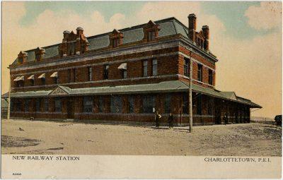 , New Railway Station Charlottetown, P.E.I. (2797), PEI Postcards