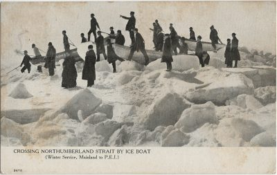 , Crossing Northumberland Strait by Ice Boat (Winter Service, Mainland to P.E.I.) (2795), PEI Postcards