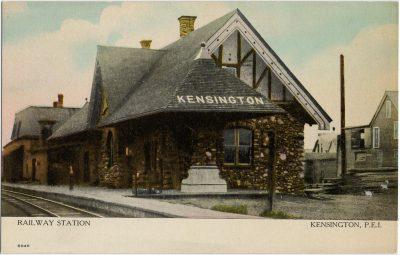 , Railway Station Kensington, P.E.I. (2796), PEI Postcards