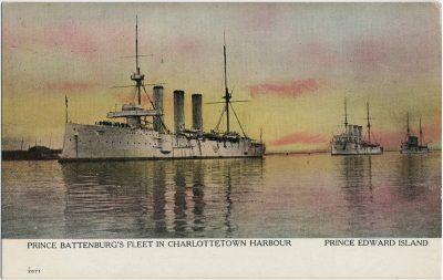 , Prince Battenburg's Fleet in Charlottetown Harbour Prince Edward Island (2794), PEI Postcards