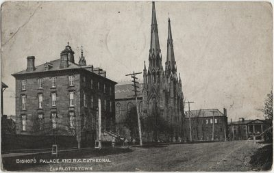 , Bishop's Palace and R.C. Cathedral Charlottetown (2888), PEI Postcards