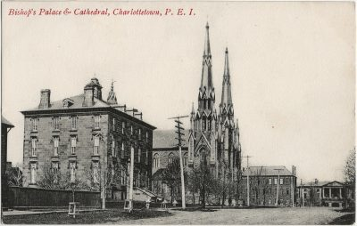 , Bishop's Palace & Cathedral, Charlottetown, P.E.I. (2878), PEI Postcards