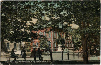 , Queen Square Gardens, Charlottetown, P.E.I. (2890), PEI Postcards