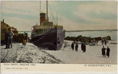 , D.G.S. Minto (Winter 1905) At Georgetown, P.E.I. (2869), PEI Postcards