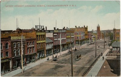 , Queen Street looking north, Charlottetown, P.E.I. (2865), PEI Postcards