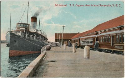 , All Ashore! S.S. Empress about to leave Summerside, P.E.I. (2861), PEI Postcards