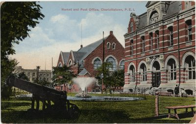 , Market and Post Office, Charlottetown, P.E.I. (2856), PEI Postcards