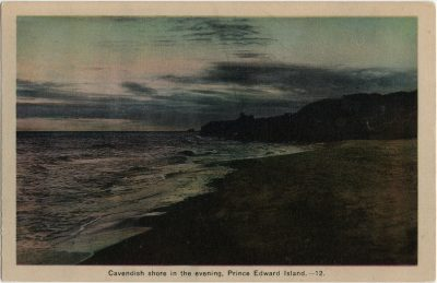 , Cavendish Shore in the evening, Prince Edward Island. (2858), PEI Postcards