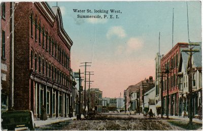 , Water St. looking West, Summerside, P.E.I. (2854), PEI Postcards