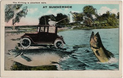 , The fishing is excellent here at Summerside. (2845), PEI Postcards