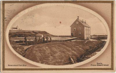 , Government Fish Drier Souris, Prince Edward Island (2892), PEI Postcards