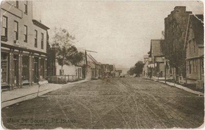 , Maint St. Souris, P.E. Island (looking west) (2894), PEI Postcards