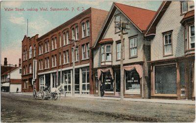 , Water Street, looking West, Summerside, P.E.I. (2893), PEI Postcards