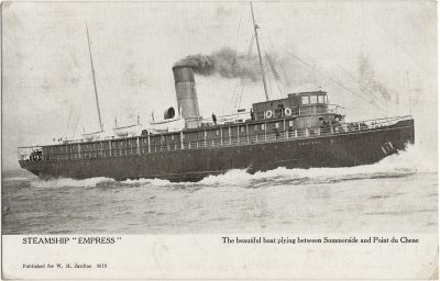 """, Steamship """"Empress""""  The beautiful boat plying between Summerside and Point du Chene (2911), PEI Postcards"""