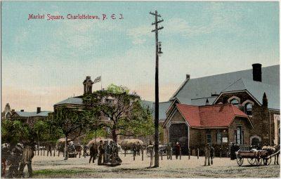 , Market Square, Charlottetown, P.E.I. (2917), PEI Postcards